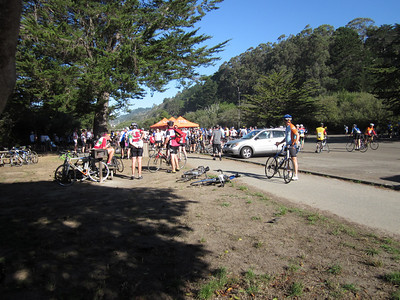The rest stop. It looks like we're in the middle of the pack in terms of how many are already here and how many were still coming in.