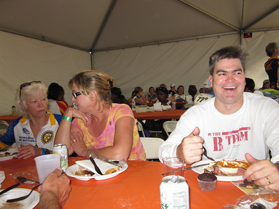 Libby, Jen and Matt at the dinner tent.
