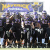 Pat Christman<br /> Minnesota State football players take the field before Saturday's NCAA second round playoff game against St. Cloud State at Blakeslee Stadium.