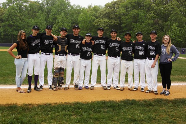Sr Day Baseball vs Nottignham HS, May 9, 2015