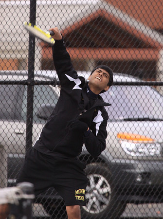Boys Tennis vs Colonia, COLD! and Windy, April 5th, 2011, Photos by R. DeBoer