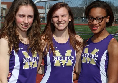 Girls Spring Track Team Pic, Seniors, Capts, and Mug Shots of Srs. March 23, 2016