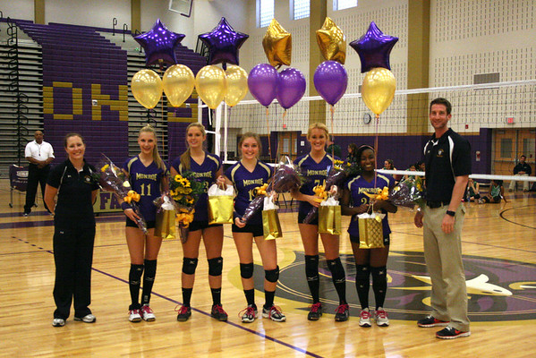 Sr. Night, Volleyball vs S. Plainfield, won in two sets., Oct 11, 2011, photos by R. DeBoer