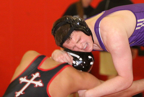 JV Falcon Wrestling defeated Bishop Ahr, Jan 15, 2104