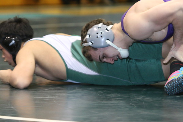 Varsity Grapplers defeated EBHS Bears with a come from behind pin by Sal Profaci, 32-29, Feb 4 2015