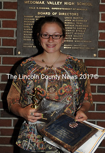 Medomak Valley girls' track award recipient Julie Ennamorati.