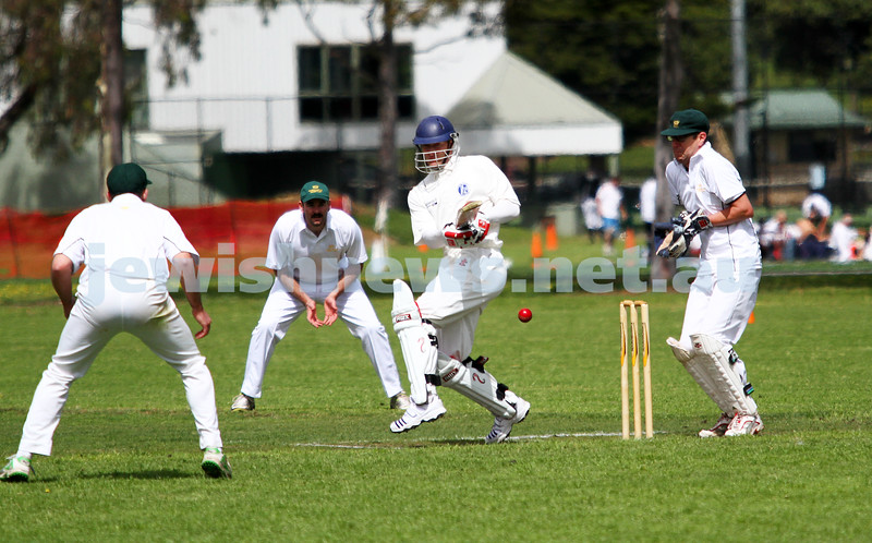 13-10-12. Maccabi Cricket v Powerhouse. Dean Weiner.  Photo: Peter Haskin
