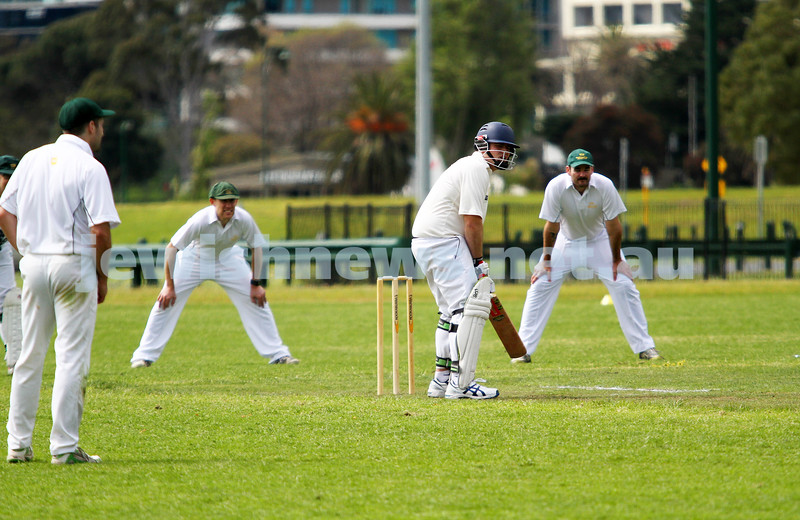 13-10-12. Maccabi Cricket v Powerhouse. Mark Soffer. Photo: Peter Haskin