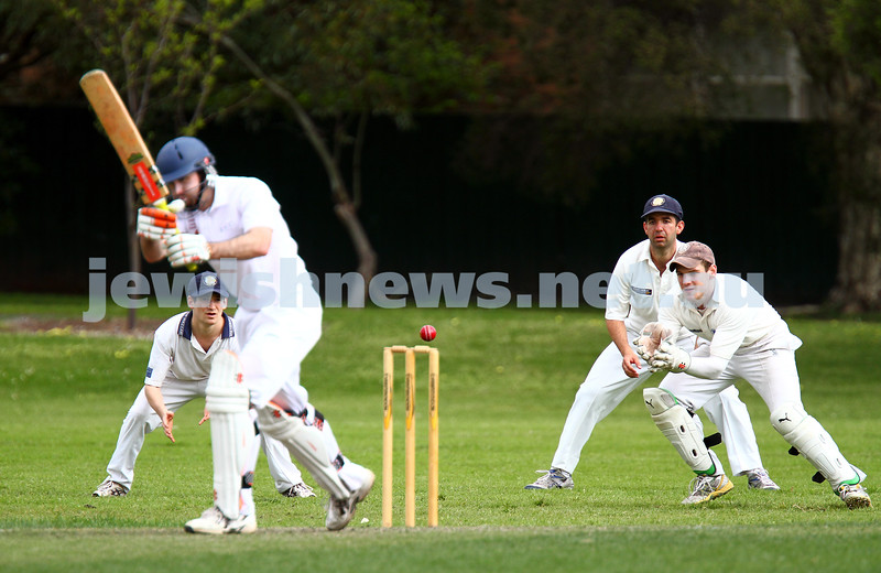 6-10-13. Maccabi Ajax Cricket Club First XI v South Yarra. Opening game of the season.  Photo: Peter Haskin