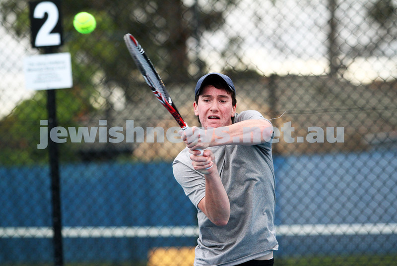 Maccabi Tennis pennent . 26-5-12. Luke Goldberg. Photo: Peter Haskin