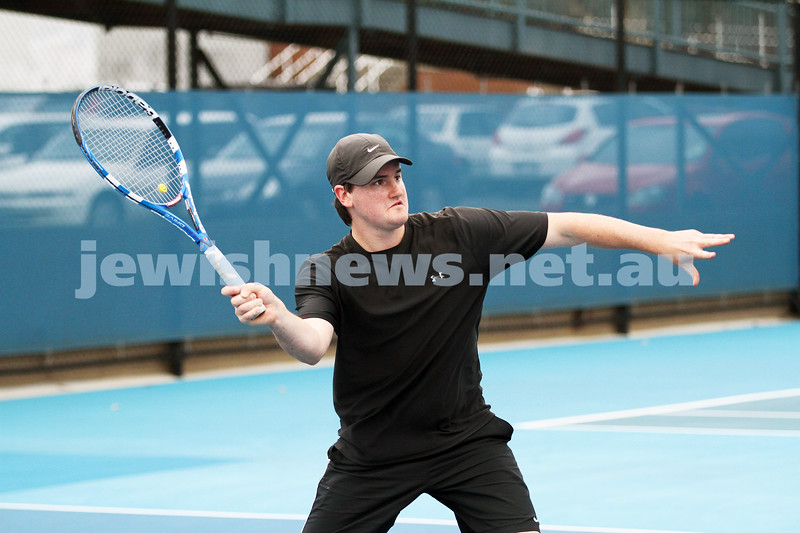 Maccabi Tennis pennent . 26-5-12. Simon Goldberg. Photo: Peter Haskin