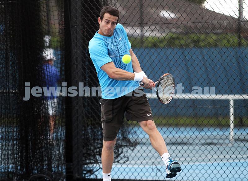 Maccabi Tennis pennent . 26-5-12. Paul Arber. Photo: Peter Haskin