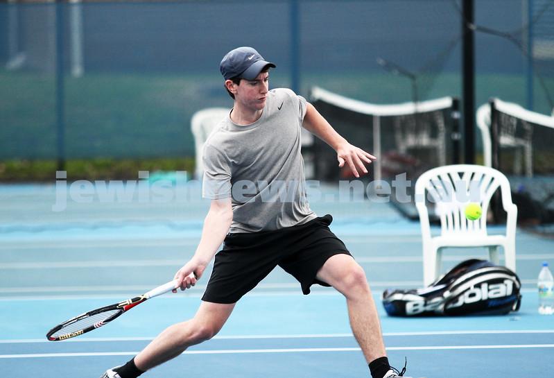 Maccabi Tennis pennent . 26-5-12. Luke Goldberg. Photo: Peter Haskin