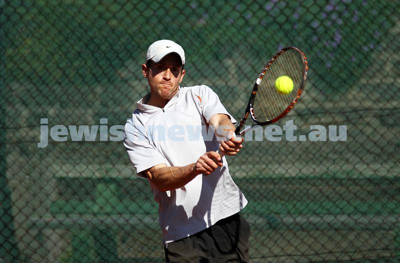20-8-11. Maccabi Tennis pennant finals. Paul Arber. Photo: Peter Haskin