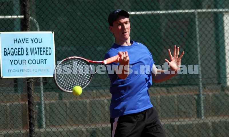 20-8-11. Maccabi Tennis pennant finals. Luke Goldberg. Photo: Peter Haskin