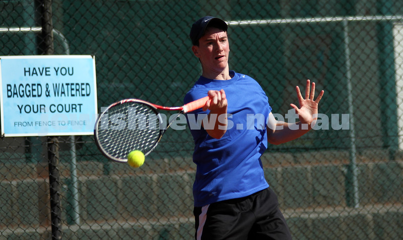 20-8-11. Maccabi Tennis pennant finals. Luke Goldberg. Photo: Peter Haskin