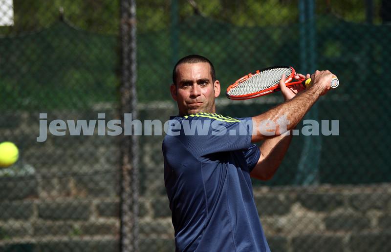 20-8-11. Maccabi Tennis pennant finals. Asaf Nagar. Photo: Peter Haskin