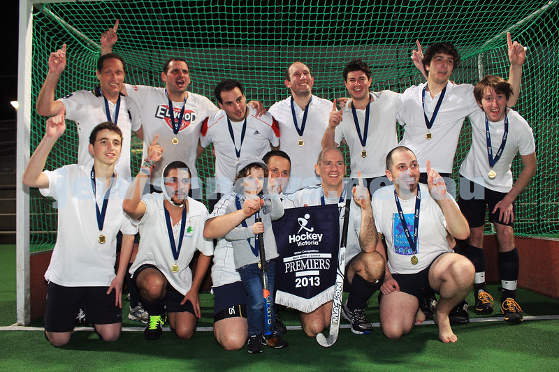 15-9-13. The Maccabi Hockey Club won the Metro 3 Central premiership 3-2 over Foostcray in overtime @ State Netball and Hockey Centre, Parkville Victoria. Photo: Lochlan Tangas