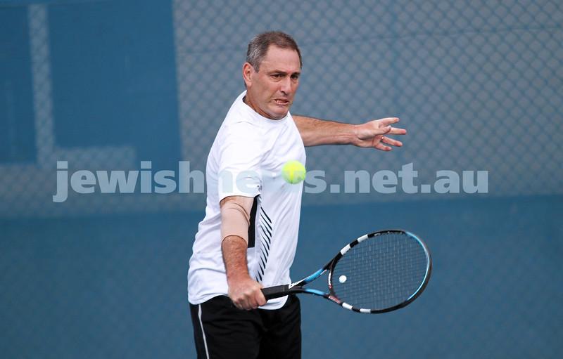 14-4-13. Maccabi Tennis Victorian Championships Men's singles final. Joel Fredman def Stephen Sharp 4-6, 6-3, 6-2. Stephen Sharp. Photo: Peter Haskin