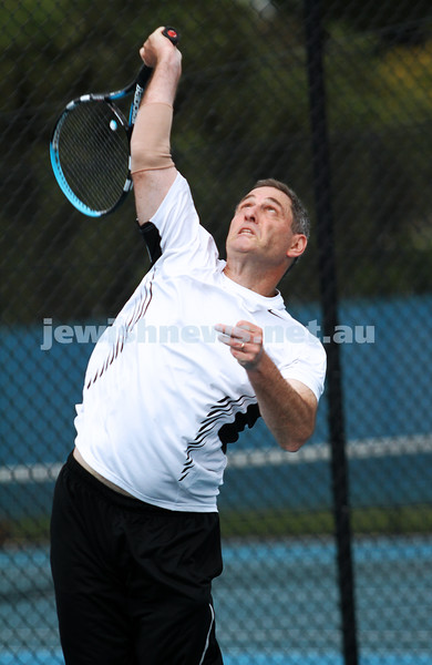 14-4-13. Maccabi Tennis Victorian Championships Men's singles final. Joel Fredman def Stephen Sharp 4-6, 6-3, 6-2. Stephen Sharp. Photo: Peter Haskin