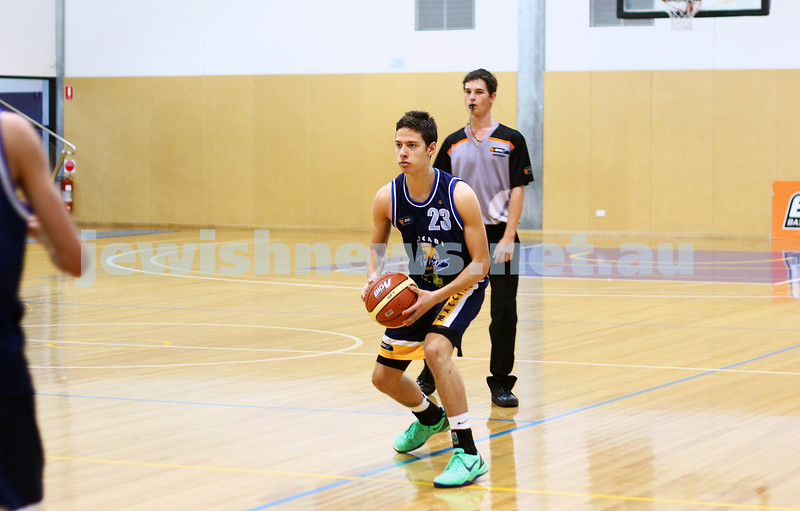 1-6-14. Basketball. Maccabi Warriors lost to Mornington Breakers. 43-61.  John Polonsky. Photo: Peter Haskin