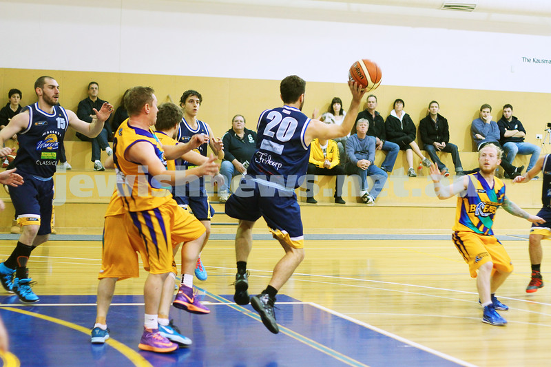 1-6-14. Basketball. Maccabi Warriors lost to Mornington Breakers. 43-61. Yoav Molcho . Photo: Peter Haskin