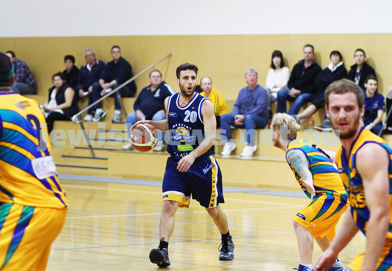 1-6-14. Basketball. Maccabi Warriors lost to Mornington Breakers. 43-61. Yoav Molcho calling the play. Photo: Peter Haskin