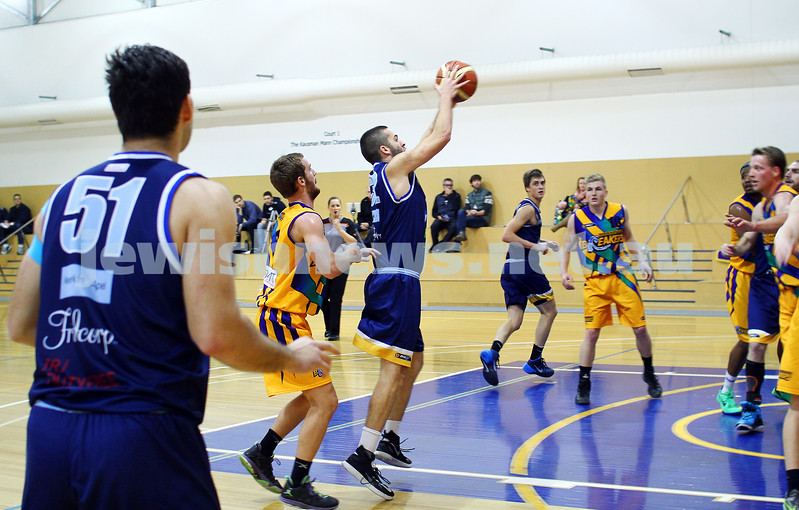 1-6-14. Basketball. Maccabi Warriors lost to Mornington Breakers. 43-61.  David Burns.  Photo: Peter Haskin