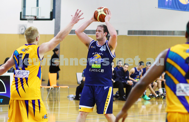 1-6-14. Basketball. Maccabi Warriors lost to Mornington Breakers. 43-61. Nick Alexandrou . Photo: Peter Haskin
