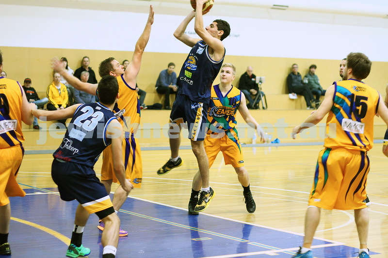 1-6-14. Basketball. Maccabi Warriors lost to Mornington Breakers. 43-61.  Jack Pinkus.  Photo: Peter Haskin