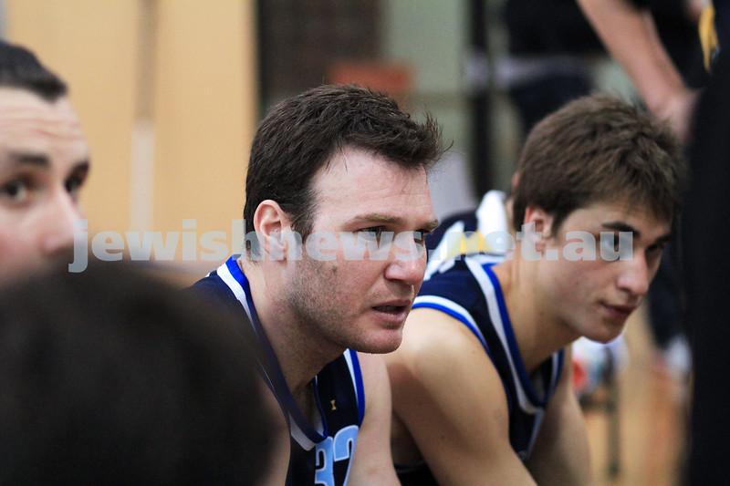 1-7-12. Maccabi Warriors basketball v Mornington. Warriors captain,  Jeremy Dukes. Photo: Peter Haskin