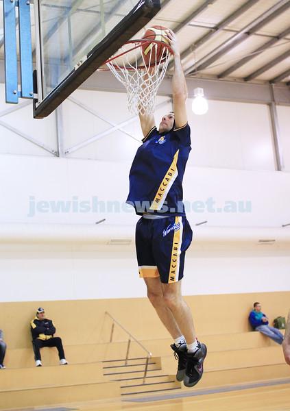 1-7-12. Maccabi Warriors basketball v Mornington. Jason Conway. Photo: Peter Haskin