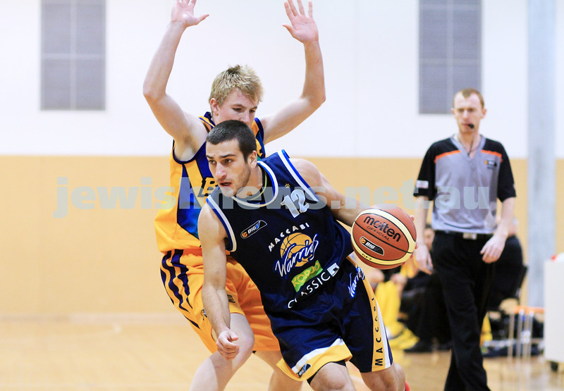 1-7-12. Maccabi Warriors basketball v Mornington. Photo: Peter Haskin