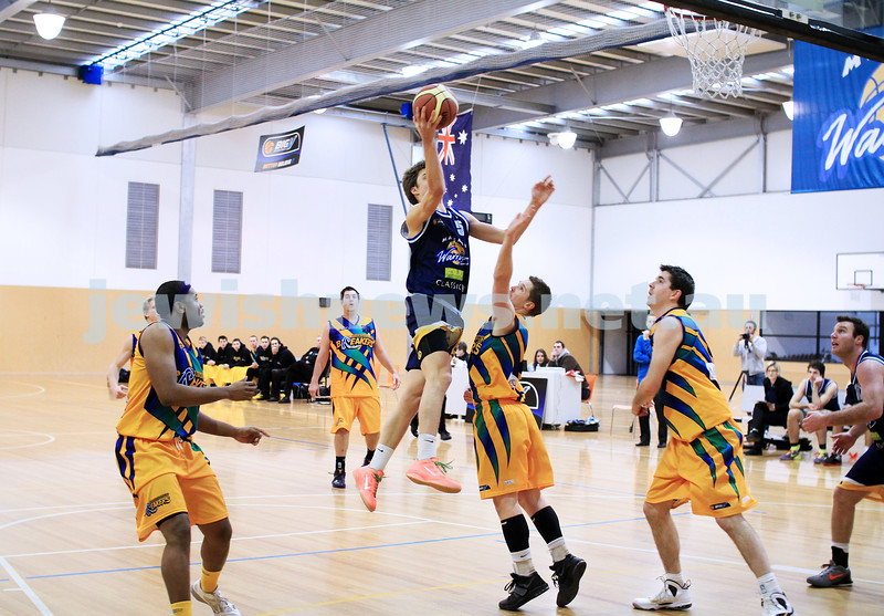 1-7-12. Maccabi Warriors basketball v Mornington. Benji Tamir. Photo: Peter Haskin