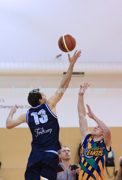 1-7-12. Maccabi Warriors basketball v Mornington. Jason Conway. Photo: Peter Haskin