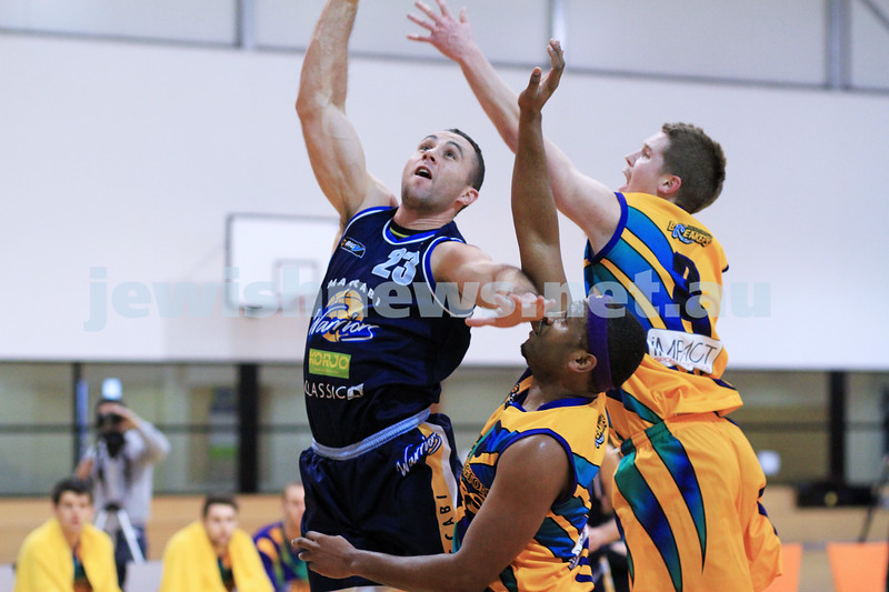 1-7-12. Maccabi Warriors basketball v Mornington. Dean Rzechta. Photo: Peter Haskin