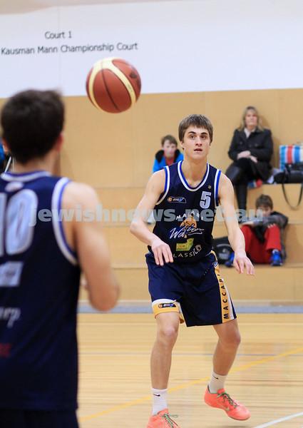 1-7-12. Maccabi Warriors basketball v Mornington. Benji Tamir. Photo: Peter Haskin