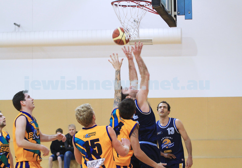 1-7-12. Maccabi Warriors basketball v Mornington. Warriors captain,  Jeremy Dukes. Photo: Peter Haskin