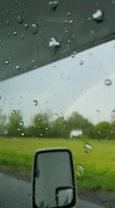 One of our racers noticed a rainbow over Oneida Shores County Park during the storm on Thursday 18th.