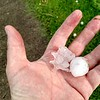 Golfball sized hail rained down on Thursday May 18 a day before Madcatter began.