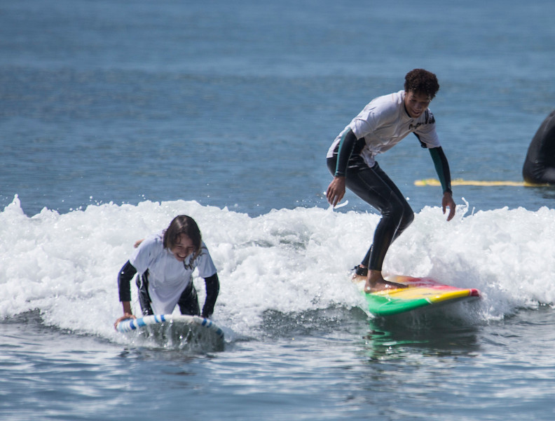 Malachi Williams Surfing at Mondos Beach Ventura, CA. 08-03-2017