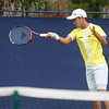 30/05/2016 Manchester UK Aegon Manchester Trophy tennis tournament at the Northern Lawn Tennis Club. Men's singles, qualifying matches.  Hiroki Moriya (Jap) in action against  Matt Reid (Aus) .