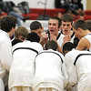 Pat Christman<br /> Mankato East's Nic Seiler fires up his team before their game against Mankato West Saturday at the West gym.