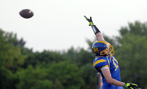 A pass to Mankato Loyola's Ryan Leiferman is just out of his reach Friday. Photo by Pat Christman