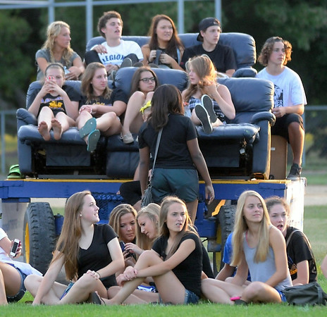 Loyola football fans watch the game Friday. Photo by Pat Christman