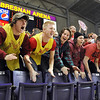 Pat Christman<br /> Mankato West fans cheer during the second half of the Section 2AAA championship game Thursday at Bresnan Arena.