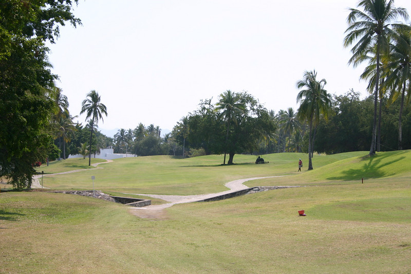 Hole six is a relatively narrow par five 479 yards.