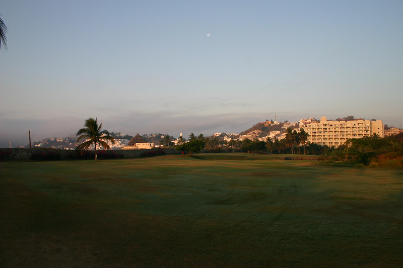 It is also a very pretty golf hole.  Karmina Palace is pictured on the right and Las Hadas is in the back left.