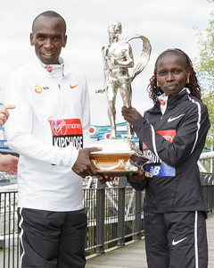 Champions photocall, 2018 Virgin Money London Marathon, London, UK