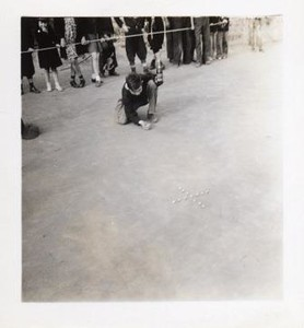 Young Boy Shooting Marbles VIII (01192)